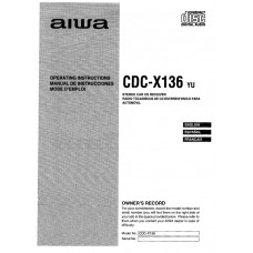 Aiwa CDC-X136 Stereo Car CD Receiver