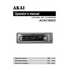 Akai ACAC100UC CAR AUDIO - MP3 / CD RECEIVER
