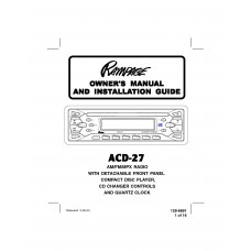 Audiovox ACD-27 FM/AM Compact Disc Player