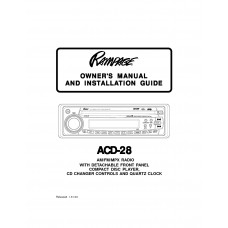 Audiovox ACD-28 FM/AM Compact Disc Player