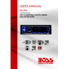 Boss 611UAB Single-DIN MECH-LESS Multimedia Player (no CD/DVD) Bluetooth