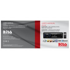 Boss 616UAB Single-DIN MECH-LESS Multimedia Player (no CD/DVD) Bluetooth