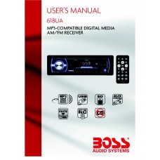 Boss 618UA MP3-Compatible AM/FM CD Receiver/ USB, SD and Aux Inputs