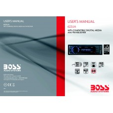 Boss 622UA Single-DIN MECH-LESS Multimedia Player (no CD/DVD) Detach Panel