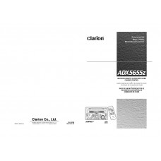 Clarion ADX5655z AM/FM CD/CASSETTE PLAYER WITH CD/MD CHANGER CONTROL
