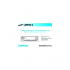 Daewoo ACP-5040RDS Car Receiver