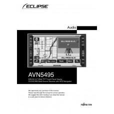"""Eclipse AVN5495 ESN E5 6.5"""" Wide TFT Touch-Panel Display CD/DVD/MS Multi-Source Receiver with HDD Navigation"""
