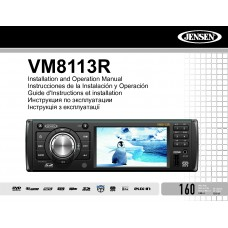 Jensen VM8113R Car Radio CD, MP3, DVD